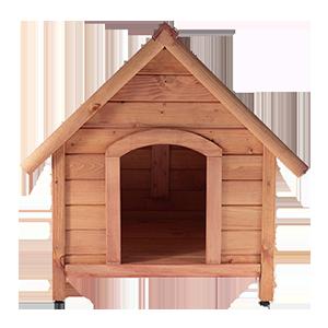 Дървени кучешки къщи